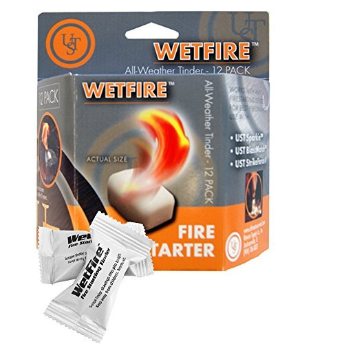 (2 Packages of 12 WetFire Fire Starter Tinders by Ultimate Survival Technologies UST)