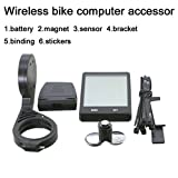 Bike Computer Wireless Bicycle Speedometer with holder, Bike Odometer Cycling Multi Function- Premium Product Package, Gifts for Bikers/Men/Women/Teens