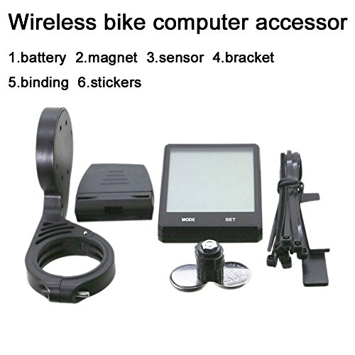 Bike Computer Wireless Bicycle Speedometer with holder, Bike Odometer Cycling Multi Function- Premium Product Package, Gifts for Bikers/Men/Women/Teens by Bike Computer