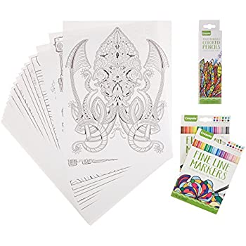 crayola adult coloring book marker art activity set