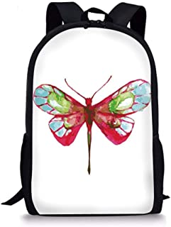 School Bags Doodle,I Love You Sugar Giant Heart with Big Letters Spelling Love Cute Smiles Flowers,Pink Multicolor for Boys&Girls Mens Sport Daypack