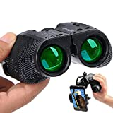 Binoculars for Adults Compact - 10×25 High Powered Lightweight Zoom Binocular With Universal Phone Adapter for Kids Women Men Hunting,Travel,Birding, Concert,Waterproof Weak Light Night Vision