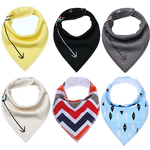 Baby Bandana Bibs 6Pack,Drool Bibs for Drooling and Teething for Boys Girls
