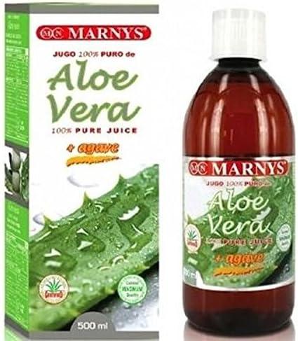 Marnys Jugo de Aloe Vera y Agave Puro 500 ml - 1 Unidad: Amazon.es ...