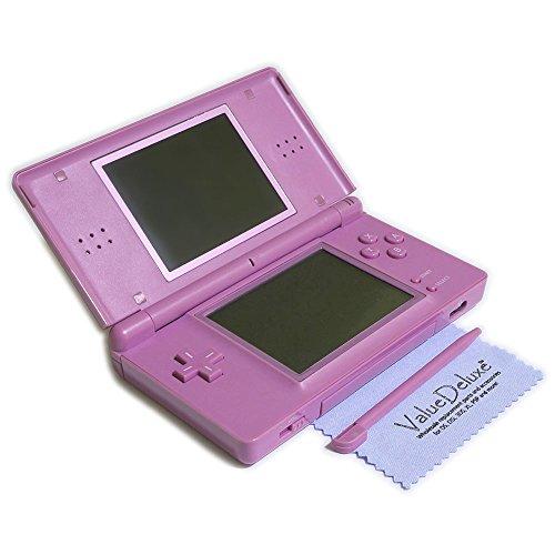 ValueDeluxe Custom Lavender Purple DS Lite System Hand held Gaming Console + Bonus World AC Adapter and Car Adapter (Lite Ds Car Adapter)