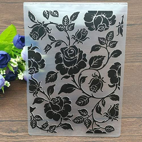 Amazon.com: Roses Plastic Embossing Folders for DIY Scrapbooking Paper Craft/Card Making Decoration Supplies