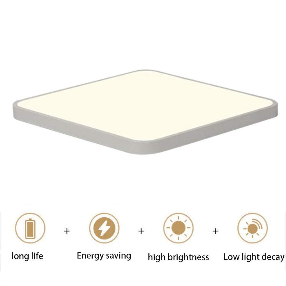 LEDシーリングライト24Wスクエアシーリングライト5000K 2050LMエネルギー効率の高い防水IP44 LEDシーリングライトバスルームキッチ   B07T42MRTS