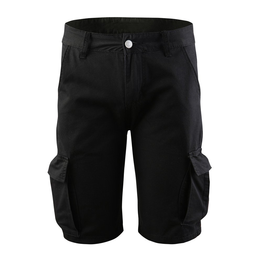 Meigeanfang Classic Mens Cargo Pants Summer Soild Multi-pocket Work Casual Short Pants Trousers
