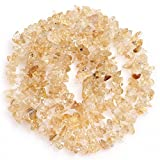 Joe Foreman 6-8mm Natural Citrine Gravel Gemstone Chips Beads For Jewelry Making Wholesale Loose Beads Freeform Yellow 34""