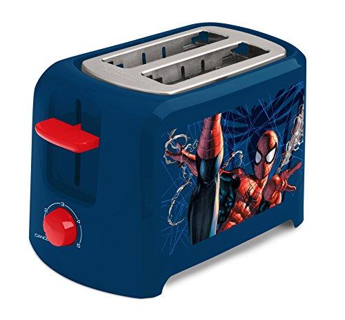 Marvel Mvs-21 Spiderman 2-Slice Toaster, Blue/Red
