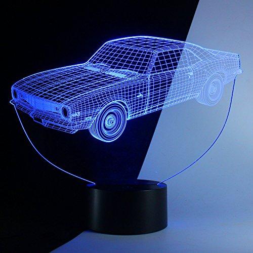 3d car night light - 9