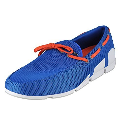 SWIMS Breeze Lace in BlitzBlue/White/Orange, Size 9