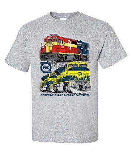 Florida East Coast Railway FEC T-shirt Adult XX-Large [79]