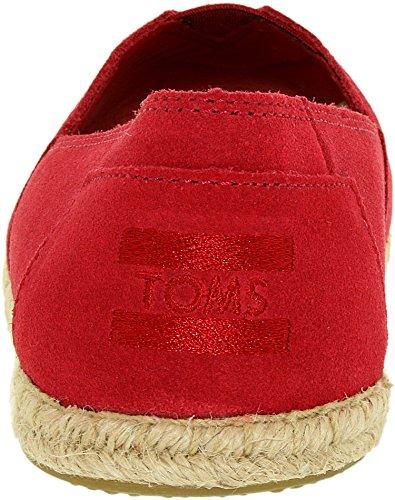 Floral Black Red Womens TOMS Alpargata Open Toe Textile n1nRYx0