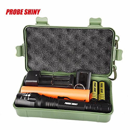 5 Modes 8000 lumens Flashlight Kits,DBHAWK Super Bright XM-L T6 LED Adjustable Focus Rechargeable Torch ()