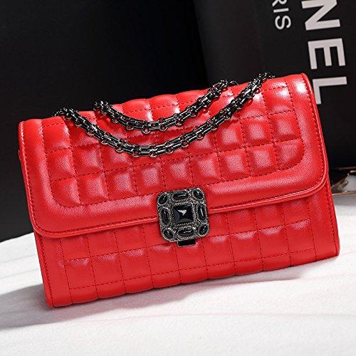 XWAN coréen épaule épaule Nouvelle Sac à gules main unique Lady chaîne Sac Fashion diamant wC1wqftTa