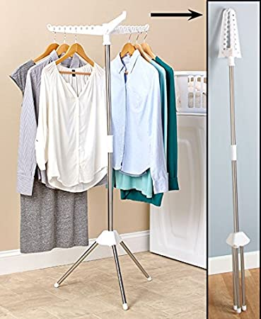 Foldable Portable Indoor Tripod Clothes Hang and Dry Rack for Hanging  Laundry