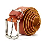 Huluwa Men's Leather Belt, Simple Casual Vintage Belt for Men, 100% Top Grain Leather, Soft and Super Durable, Brown Reviews