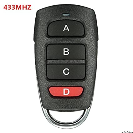 Tiptiper 433mhz Electric Garage Door Car Remote Control Key