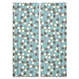 Peaches Curtain: Long Window Treatment Set of 2 Panels for Living Room Bed Room