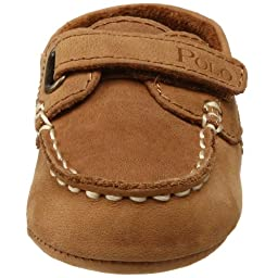 Ralph Lauren Layette Captain EZ Crib Shoe (Infant/Toddler),Tan,3 M US Infant