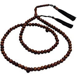 8mm Ironwood Prayer Beads with 3 Copper Decorated Tassels