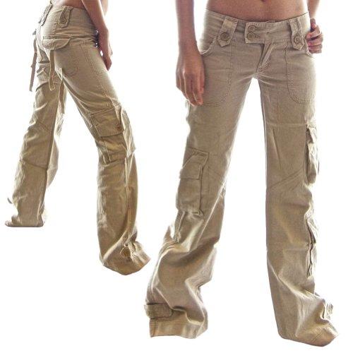 Himalayani 45062 Qualit Donna Cotone Cargo Pantaloni Da 100 qvx4nPZtIw