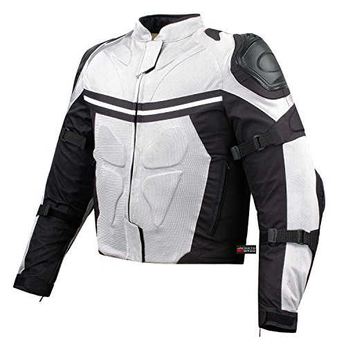 PRO MESH MOTORCYCLE JACKET RAIN WATERPROOF WHITE XL ()