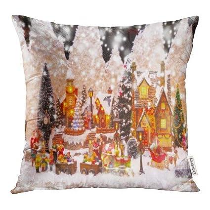 Amazon.com: Funda de almohada con diseño de Papá Noel y Papá ...
