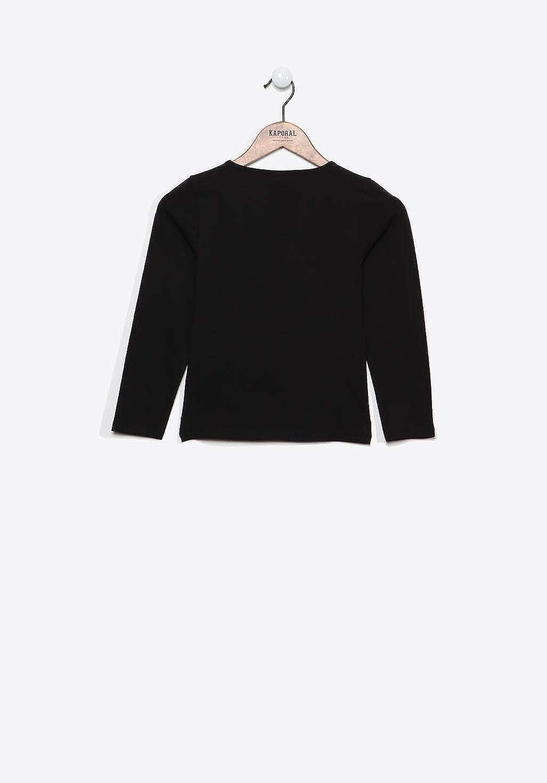 Tail T-Shirt /à Manches Longues Fille Coupe Droite Kaporal