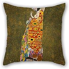 ElijahFenn Almohada Casos De Oil Painting Gustav Klimt - Hope, II 20 X 20 Inches/50 por 50 Cm Mejor Asóloe para Muchachos Sofá Silla Bedsala De Café Casa Al Aire Libre Twin Lados