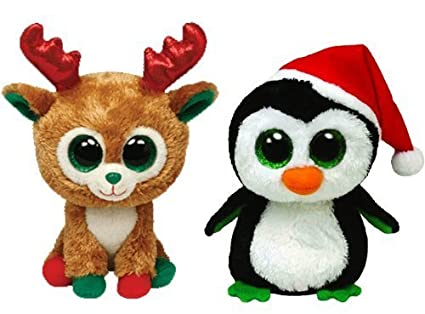 9def91de324 Image Unavailable. Image not available for. Color  Ty Beanie Boos Igloo the  Penguin and Alpine the Reindeer ...