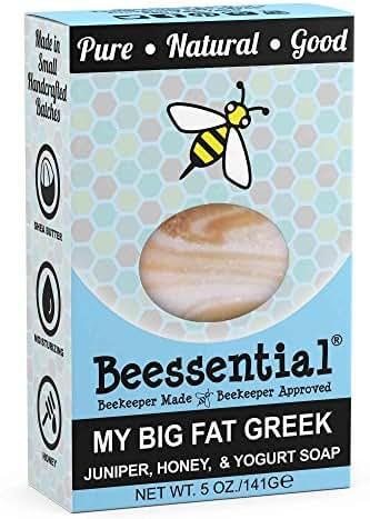 Beessential My Big Fat Greek Juniper Soap, Honey And Yogurt, 5 Ounce