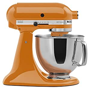 KitchenAid KSM150PSTG Artisan Series 5-Qt. Stand Mixer with Pouring Shield - Tangerine