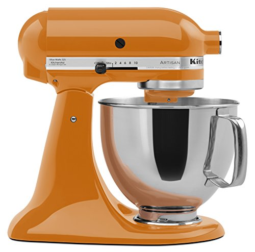 KitchenAid KSM150PSTG Artisan Series 5-Qt. Stand Mixer with Pouring Shield - Tangerine ()