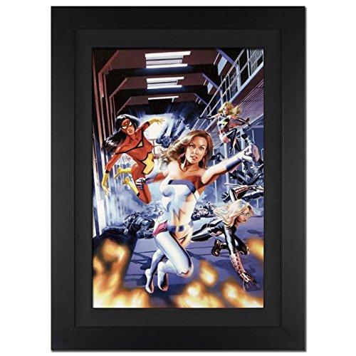 Signed Jewel Art (STAN LEE signed NEW AVENGERS Marvel ORIGINAL COMIC Artwork Spiderwoman Jewel fr.)