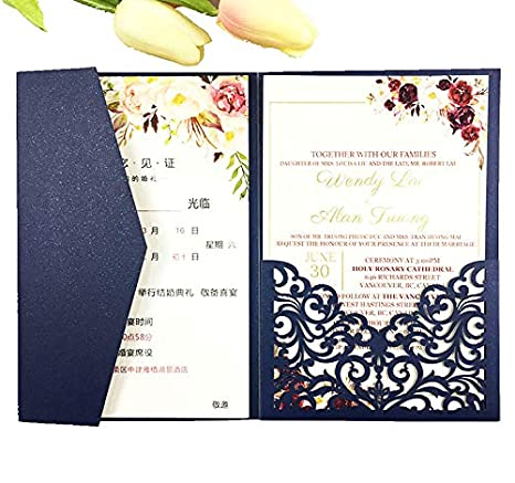 Amazon Com 25 Sets Pearl White Ivory Pink Navy Blue Burgundy Paper