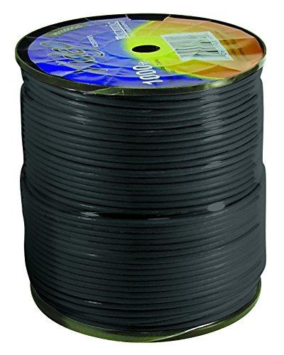 LUXTRONIC COAXIAL Black Cable RG6 1000FT Coax CATV RG-6 1000' TV Bulk