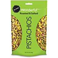 Wonderful Pistachios, No Shells, Roasted and Salted, 12 Ounce Resealable Bag