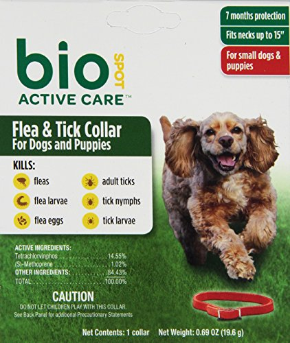 Bio Spot Puppy (BioSpot Active Care Flea and Tick Collar for Small Dogs, 15-Inch)