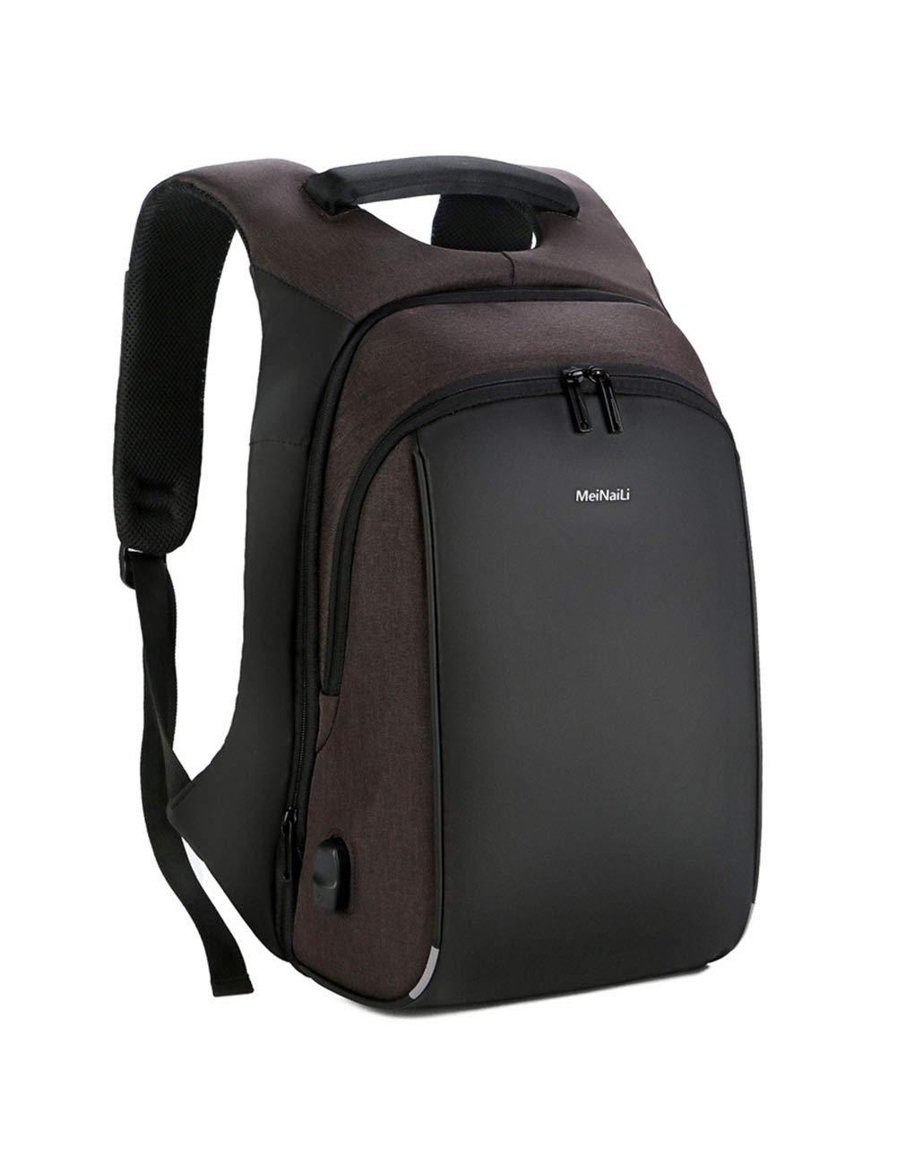 防水ラップトップバックパック迷彩メンズレディース男の子スクールバックパック、カジュアルビジネスデイパック旅行バックパックのための大学  brown B07Q6R7L3D