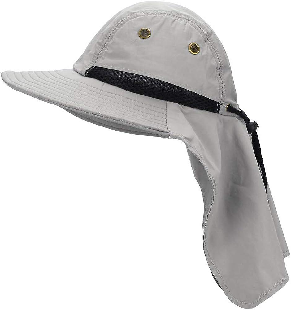MK MATT KEELY Outdoor Mens Summer Neck Flap Sun Hat Boonie Hat Tesa Larga Protezione Solare Secchiello Cappelli da Pesca da Uomo Cappello da Trekking