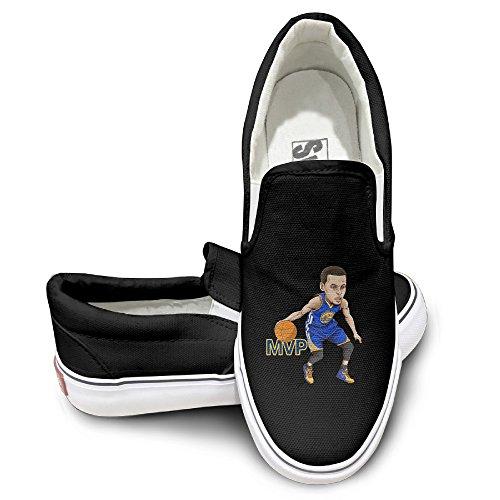 DHome Kurry Baseketball Oxford Unisex Flat Canvas Sneaker Shoes 38 Black