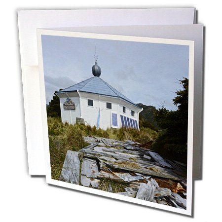 KIKE CALVO Patagonia ISLA DE LOS ESTADOS - San Juan the Salvamento Lighthouse, Tierra de Fuego, Argentina - 1 Greeting Card with envelope (gc_233777_5)