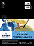 Canson Montval Watercolor Pad, Cold Press Acid Free French Paper, Fold Over, 140 Pound, 9 x 12 Inch, 12 Sheets