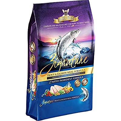 Pets Global ZG13178 4 lbs Zignature Trout & Salmon Small Bite Dog Food