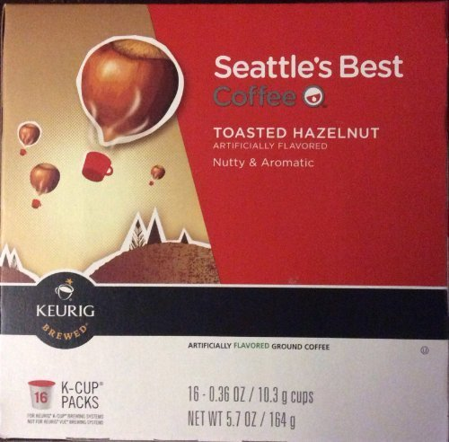 - Seattle's Best Coffee Toasted Hazelnut K-cup 16 Packs (Pack of 2)