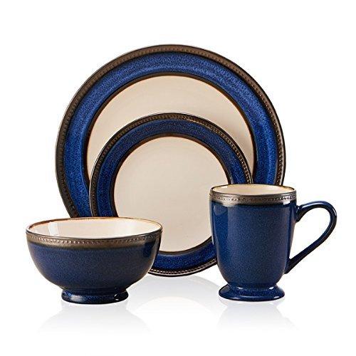 Pfaltzgraff Everyday 5143125 Blue/Metallic Round Catalina 16-piece Dinnerware Set Cobalt by Pfaltzgraff Everyday by Pfaltzgraff Everyday