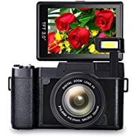 Digital Camera Vlogging Camera Full HD 1080p Vlog Camera...
