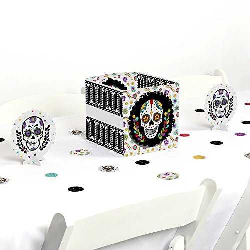 Day Of The Dead - Halloween Sugar Skull Party Centerpiece & Table Decoration Kit by Big Dot of Happiness